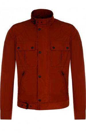Куртка на молнии с воротником-стойкой Belstaff. Цвет: красный
