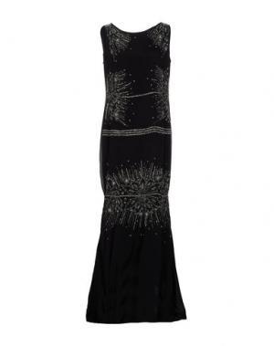 Длинное платье CLASS ROBERTO CAVALLI. Цвет: черный