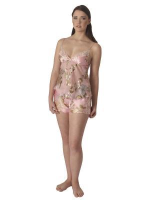 Комплект (топ, шорты) Monti Liv'eri. Цвет: розовый, зеленый, персиковый, серый