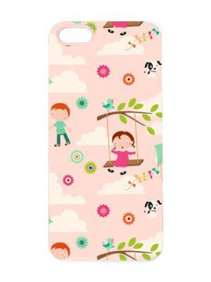 Чехол для iPhone 5/5s Дети на розовом Арт. IP5-044 Chocopony. Цвет: розовый, черный