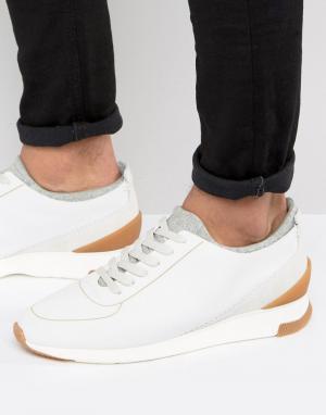 Hudson London Замшевые кроссовки Sime. Цвет: белый