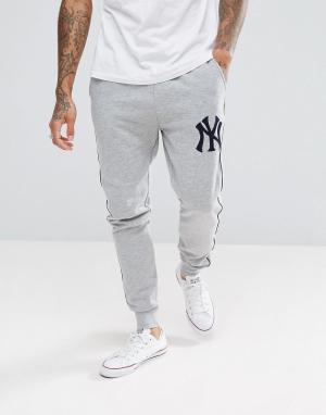 Majestic Серые джоггеры New York Yankees. Цвет: серый