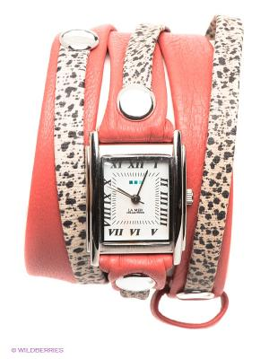Часы La Mer Collections. Цвет: коралловый, бежевый, черный