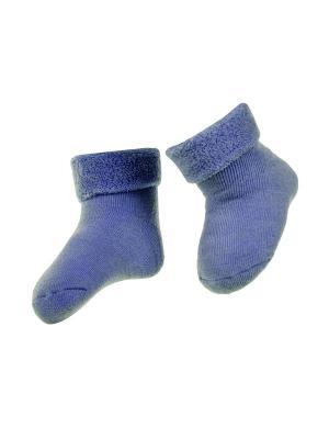Носки махровые 2 пары Janus. Цвет: голубой
