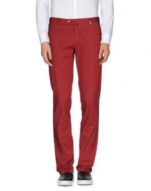 Повседневные брюки GIO ZUBON. Цвет: красно-коричневый