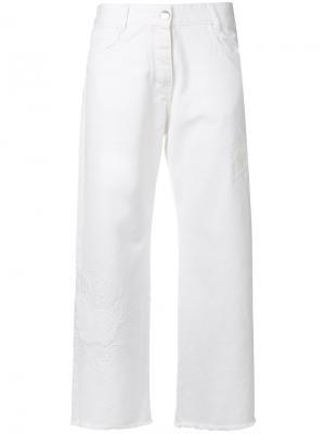 Укороченные брюки Each X Other. Цвет: белый