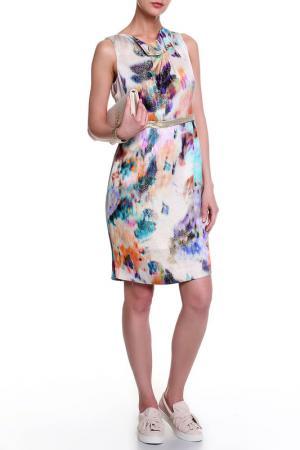 Платье Elie Tahari. Цвет: серебряный