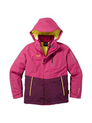 Куртка CROSSWIND 3IN1 KIDS Jack Wolfskin. Цвет: лиловый