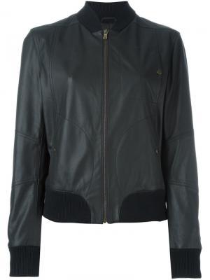 Куртка-бомбер  с нагрудным карманом Tomas Maier. Цвет: чёрный