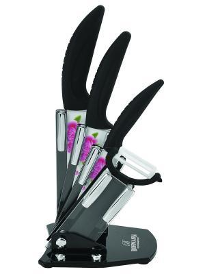 Набор ножей на подставке, 2 шт. BOHMANN. Цвет: черный