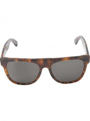 Большие солнцезащитные очки Flat Top Havana Retrosuperfuture. Цвет: коричневый