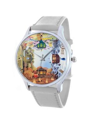 Дизайнерские часы Сезоны Tina Bolotina. Цвет: терракотовый, серо-зеленый, светло-серый, белый