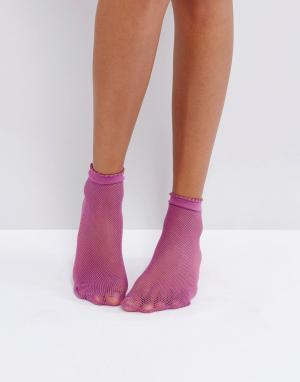 Gipsy Носки в мелкую сетку. Цвет: фиолетовый