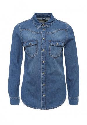 Рубашка джинсовая Topshop. Цвет: синий