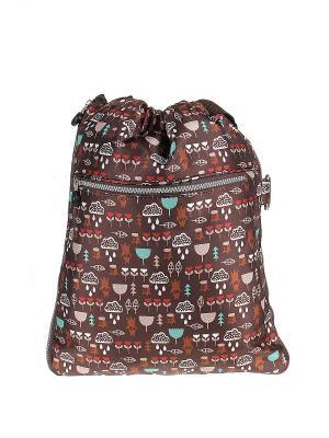 Рюкзак Happy Charms Family. Цвет: бирюзовый, коричневый