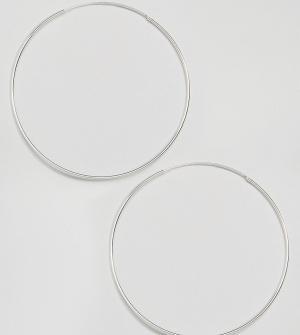 Kingsley Ryan Серебряные серьги-кольца 85 мм. Цвет: серебряный