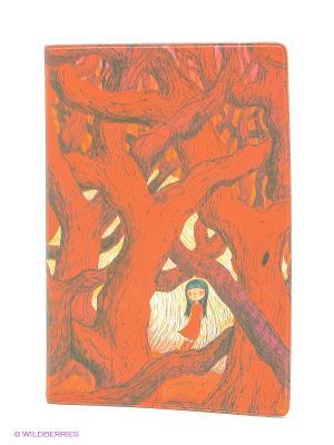 Обложка для паспорта В красном кустарнике Mitya Veselkov. Цвет: красный, коричневый, молочный