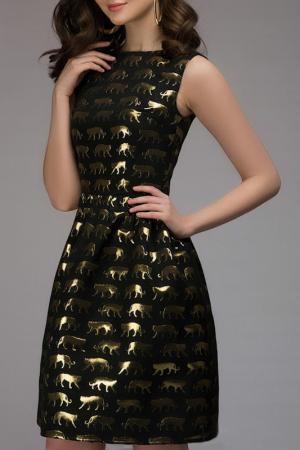 Платье 1001dress. Цвет: черный, принт
