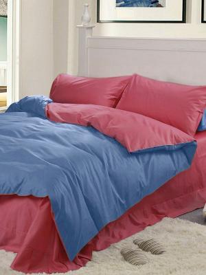 Комплект постельного белья Dream time. Цвет: красный, синий