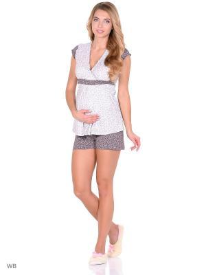 Комплект для беременных и кормящих FEST. Цвет: коричневый, белый