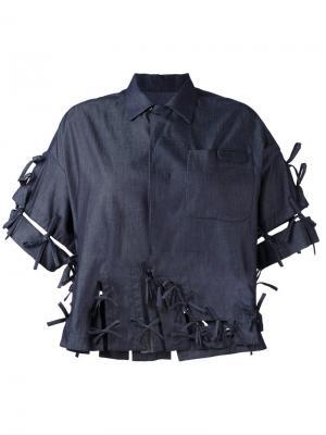 Джинсовая рубашка Facetasm. Цвет: синий