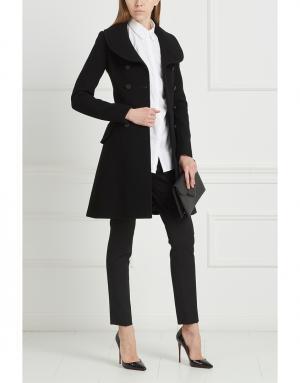 Шерстяное пальто Azzedine Alaïa. Цвет: черный
