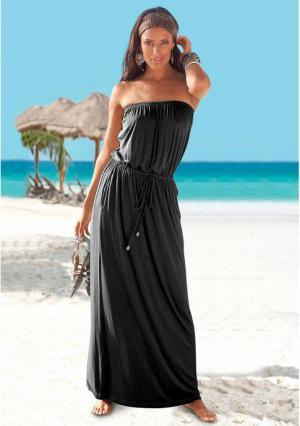 Платье Lascana. Цвет: черный