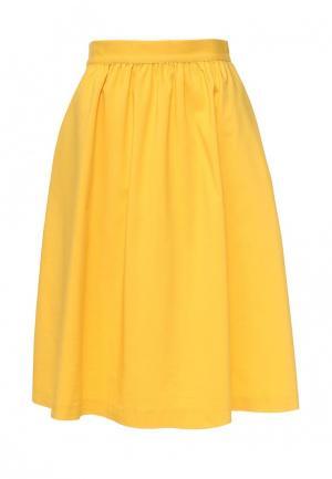 Юбка Baon. Цвет: желтый