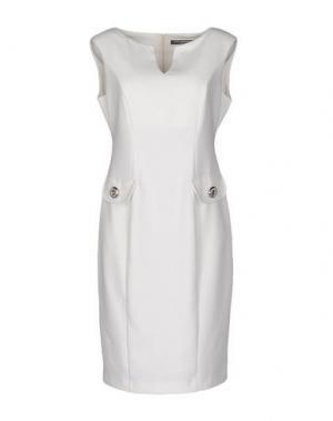 Короткое платье CARLA MONTANARINI. Цвет: белый