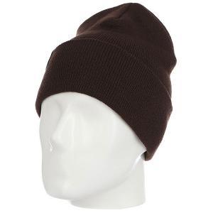 Шапка носок  Ff Fold Brown Les. Цвет: коричневый