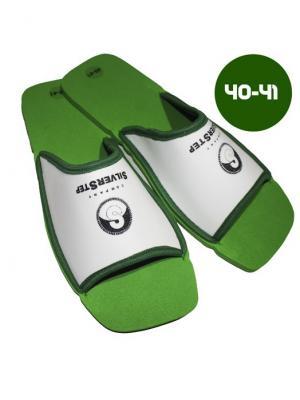 И1152 Тапочки для снятия усталости и тяжести в ногах, р-р 40-41 SilverStep. Цвет: зеленый