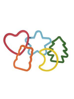 Набор  веселый завтрак Regent inox. Цвет: зеленый, голубой, фуксия, оранжевый, желтый
