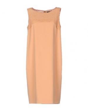 Короткое платье SILK AND SOIE. Цвет: абрикосовый