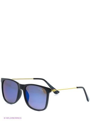 Солнцезащитные очки Funky Fish. Цвет: синий, черный