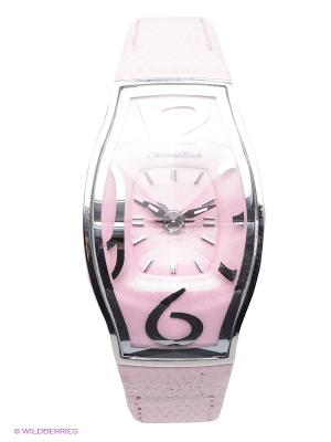 Часы Chronotech. Цвет: бледно-розовый, серебристый