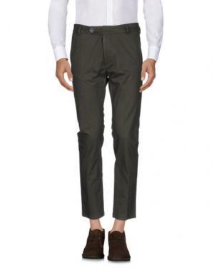Повседневные брюки 26.7 TWENTYSIXSEVEN. Цвет: зеленый-милитари