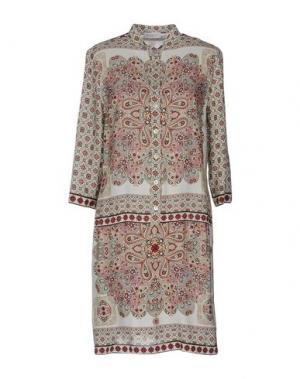 Короткое платье ZANETTI 1965. Цвет: бежевый