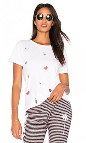 Классическая футболка croft Lauren Moshi. Цвет: белый