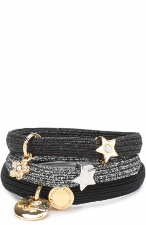 Комплект эластичных резинок с декоративной отделкой Marc Jacobs. Цвет: черный