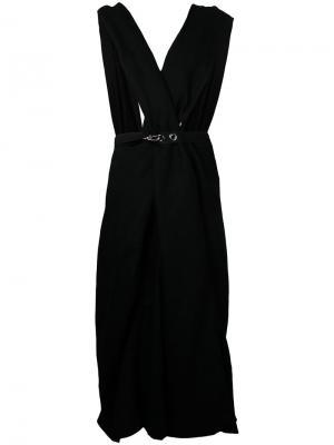 Платье с лямками крест-накрест Nehera. Цвет: чёрный