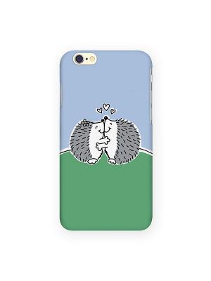 Чехол для IPhone 6 Влюбленные ёжики Mitya Veselkov. Цвет: зеленый, красный, желтый