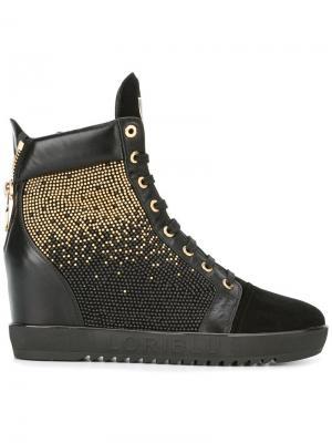 Embellished hi-top sneakers Loriblu. Цвет: чёрный