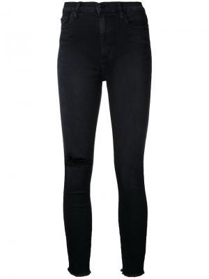 Облегающие укороченные джинсы Siren Amused Nobody Denim. Цвет: чёрный