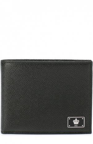 Кожаное портмоне с отделением для кредитный карт Dolce & Gabbana. Цвет: темно-зеленый