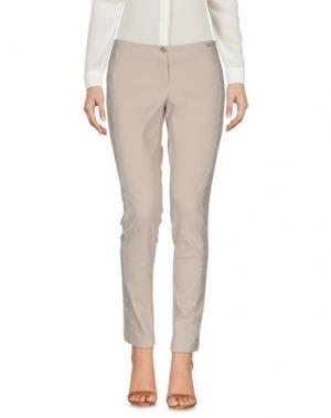 Повседневные брюки REBEL QUEEN. Цвет: песочный