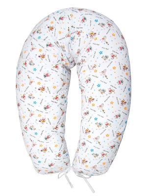 Подушка для беременных и кормящих трикотаж ФЭСТ. Цвет: белый,коричневый