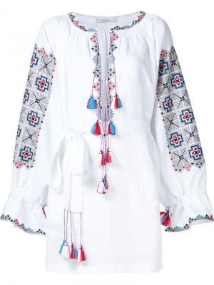 Туника с вышивкой Vita Kin. Цвет: белый