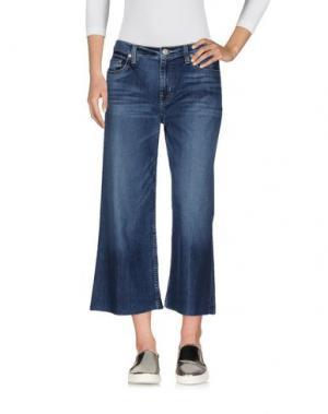 Джинсовые брюки-капри HUDSON. Цвет: синий