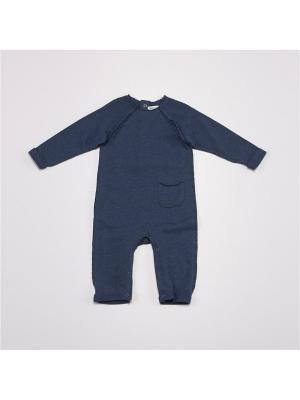Комбинезон нательный для малыша BABALUNO. Цвет: синий