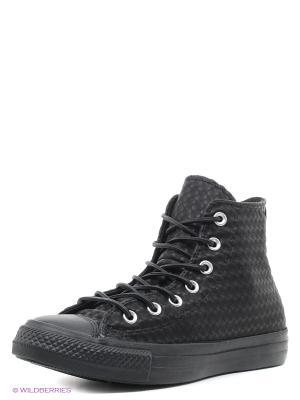 Кеды Chuck Taylor All Star Craft Leather Converse. Цвет: черный